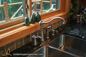 kitchen faucets for granite countertops golden eagle log and timber homes design ideas log home kitchens