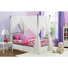 dhp pewter twin canopy bed 4020959 the home depot