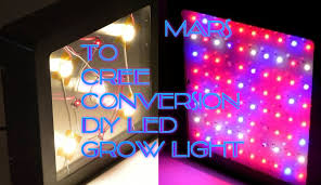 how to build a led grow light growhack mars to cree conversion diy led grow light youtube