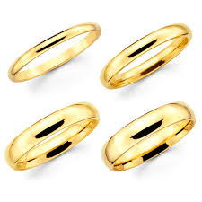 gold womens wedding band solid 10k yellow gold 2mm 3mm 4mm 5mm comfort fit men women