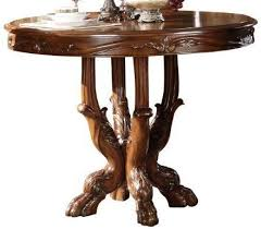 Dictionary Pedestal Acme Dresden Round Pedestal Counter Height Dining Table In Brown