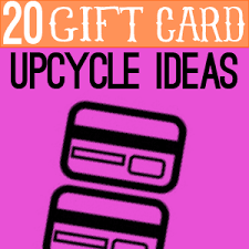gift card upcycle round up at totallygreencrafts com crafts