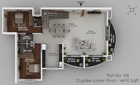 House Plan 3d Duplex House Plans 3d View