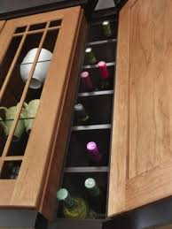 trend kitchen cabinets with wine rack greenvirals style