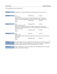 Microsoft Word Professional Resume Template Free Resume Templates Outline Word Professional