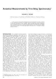 aes e library acoustical measurements by time delay spectrometry