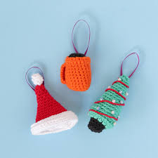 crochet cheer ornaments