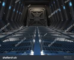 futuristic interior space station stock illustration 257657485