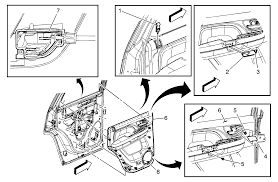 repair instructions rear side door trim panel replacement