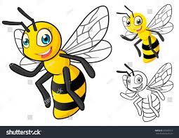high quality detailed honey bee cartoon stock vector 307830710