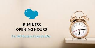 opening hours for wpbakery page builder visual composer by unitecms