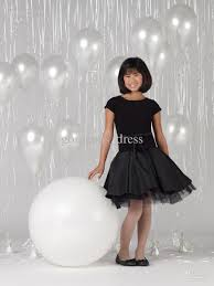 fashon black party dresses short black flower