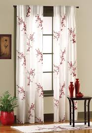 Asian Curtains Asian Bedroom Cherry Blossom Curtain Panel Set S Japanese