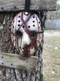 leather jason voorhees mask unique custom made high quality