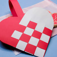 s day baskets how to make woven paper heart baskets s day crafts