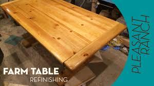 Wood Table Refinishing Farm Table Refinish Youtube