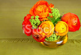 Flowers In A Vase Images Bouquet Of Beautiful Ranunculus Flower In A Vase Stock Photos