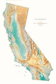california map california elevation tints map beautiful artistic maps