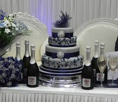 and silver wedding blue and silver wedding cakes tier wedding cake was made to