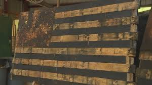 Whiskey Flag Local Man Honors Those Who Serve With Remarkable Artwork Abc11 Com