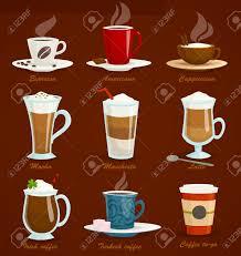 espresso coffee clipart different types of coffee espresso americano cappuccino latte