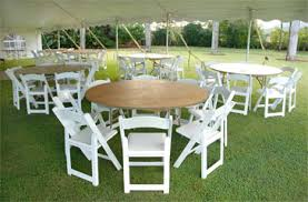 5 foot round table table rentals kauai tent party rental