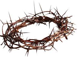 crown of thorns downward upward and forward jesus