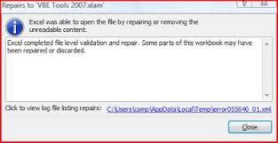 vba tips u0026 tricks programmatically open and repair workbook using vba