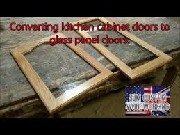 how to router cabinet doors for glass giving kitchen cabinet doors a new look by changing them to glass