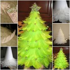 how to make christmas how to make christmas tree out of feathers step by step diy tutorial