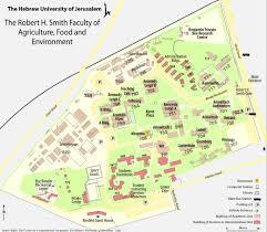 Map Of Jerusalem The Hebrew University Of Jerusalem Rehovot Campus Map