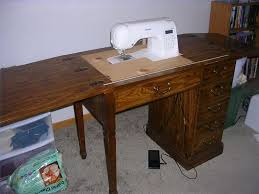 fold away sewing machine table how to convert an old sewing cabinet or table to hold a new sewing