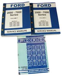 lot ford 3000 4000 series tractor service repair shop u0026 operators