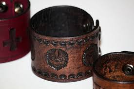 leather jewelry cuff bracelet images Hand crafted live to ride wings custom leather cuff bracelets by jpg