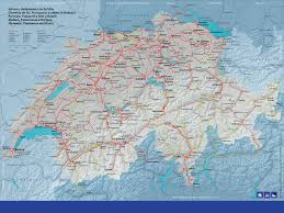 Swiss Map Swissrail Map