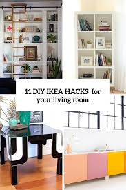 Livingroom Storage 11 Practical And Chic Diy Ikea Hacks For Living Rooms Shelterness