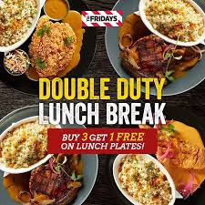 id cuisine uip tgifridays launches the duty lunch breaks 3 1 weekday