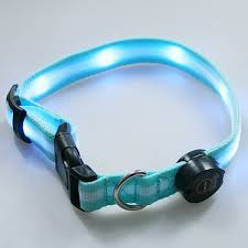dog collar lights waterproof led light dog collar blue