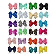 hair bows hair bow set 24 grosgrain hair bows the solid bow