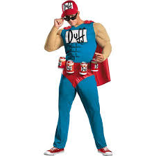 Halloween Costumes Simpsons Simpsons Duffman Muscle Halloween Costume Walmart