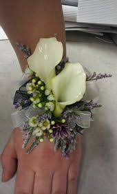 calla corsage ready to ship wrist corsage for prom calla lilies corsage and