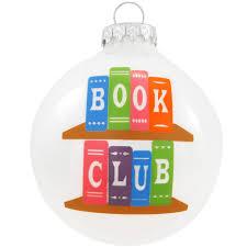 book club glass ornament hobbies christmas ornaments