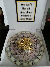 graduation gift ideas for him money gift idea can t live on pizza alone a gift for