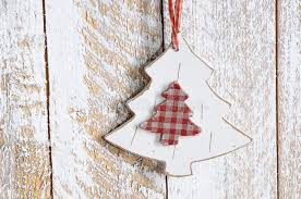 Wooden Toy Christmas Tree Decorations - wooden toy christmas tree stock photo image 62781920