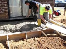 How To Build A Cement Patio Project 1 Front Porch Concrete Pour Youtube