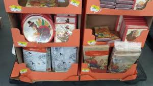 thanksgiving paper goods clearance for only 25 cents wral