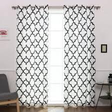 brianna moroccan print semi opaque grommet top curtain panel pair