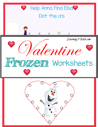 valentine frozen worksheets learning 2 walk