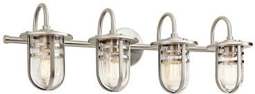 5 Light Bathroom Vanity Light Kichler 45134ni Caparros Contemporary Brushed Nickel 4 Light