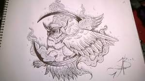 stylised owl tattoo drawing in 2017 real photo pictures images